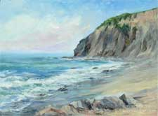 Dana Point Headlands seascape oil painting by karen Winters