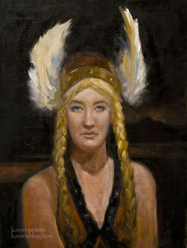 Brunhilde Portrait Wagner Opera Singer Oil Painting Ring Cycle Art