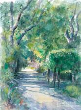 Descanso Grape Arbor watercolor paitning