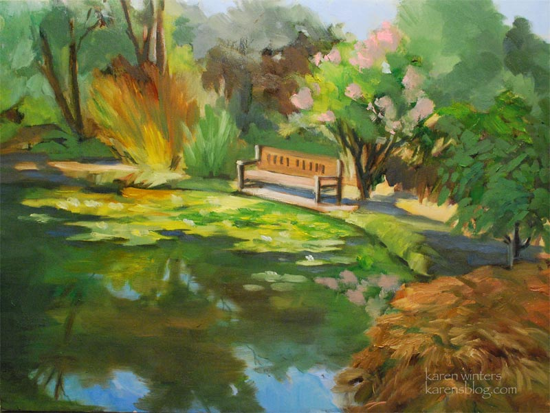 Descanso Gardens Lily Pond California Plein Air