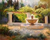 Descanso Mission Garden oil painting by Karen Winters