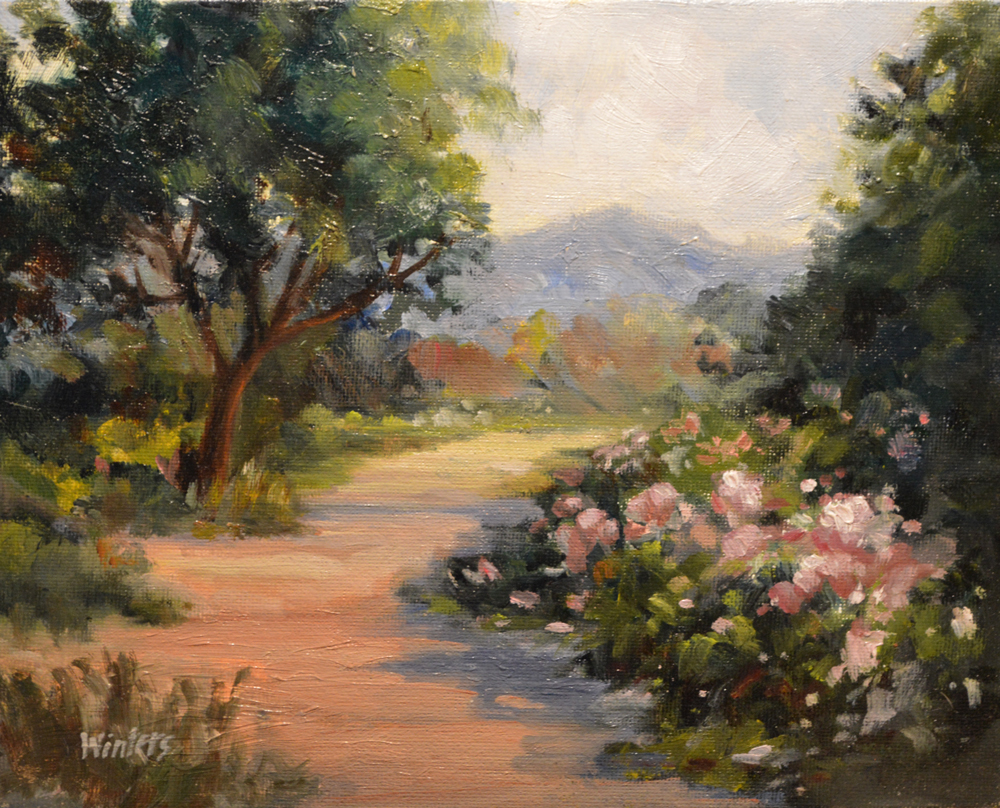 Pathway Painting On Canvas