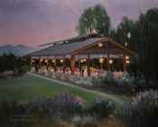 Descanso Gardens Rose Garden Rosarium Wedding Painting Live Event Painter Karen Winters
