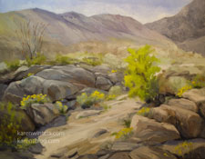 Desert Wildflowers Anza Borrego State Park oil painting