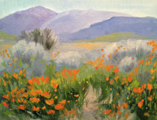 Dreaming in Poppy Land Lancaster California poppy reserve oil painting