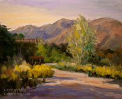 Eaton Canyon Afternoon original oil painting by California impressionist Karen Winters