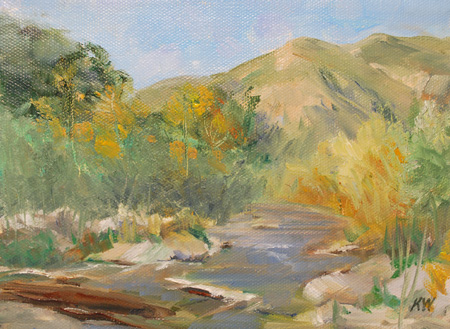 Eaton Canyon miniature oil painting SOLD