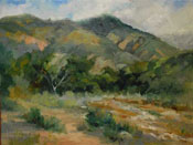 Eaton Canyon Waters - plein air oil painting by Karen Winters