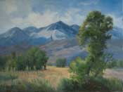 Edge of Autumn, Mt. Tom, Bishop, Eastern Sierra Owens Valley Original Oil Painting by Karen Winters