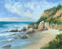 El Matador Beach Malibu oil painting SOLD