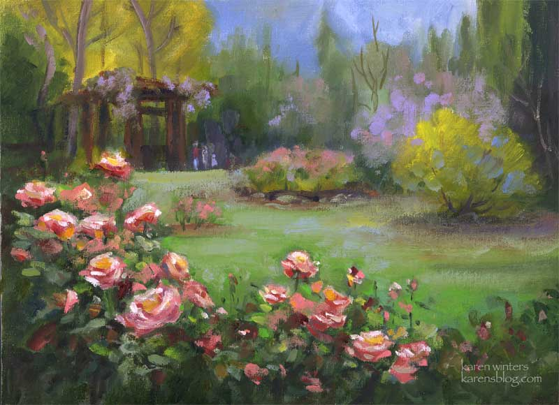 Descanso Rose Garden painting