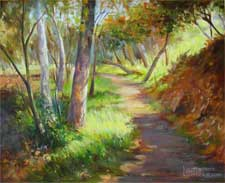 Path of Light Flintridge Trail painting La Canada