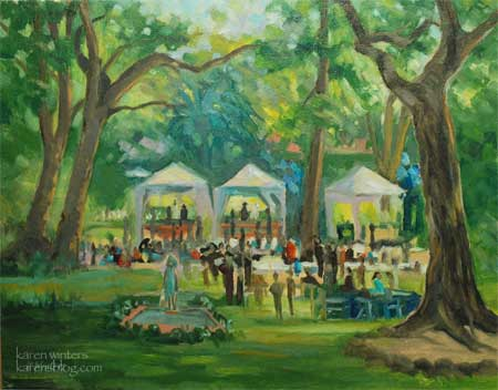 Garden Party Live Event Painting Pasadena