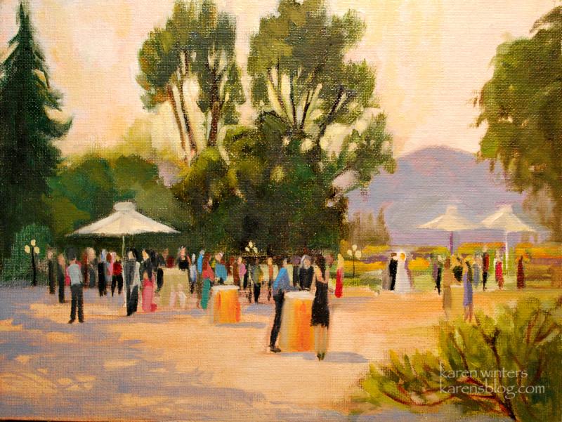 A Garden Wedding U2013 Live Event Painting