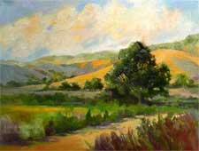Golden Days - near Lompoc, California - oak hillside afternoon sunset light