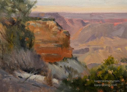 Grand Canyon Plein Air Oil Painting Hopi Point South Rim
