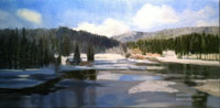 Grass Lake, Lake Arrowhead, California oil painting