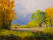 Grazing at Bishop, California Horse Equine Art Sierra oil painting fine art for sale