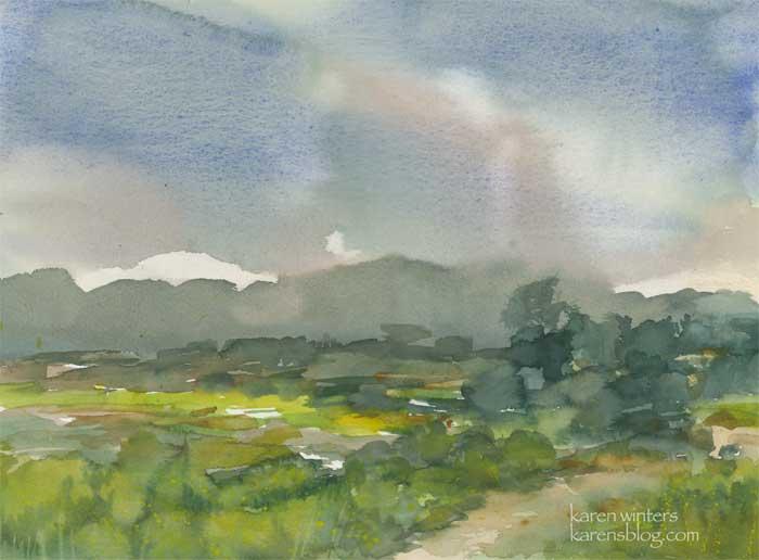 Hahamongna Rainy Sky