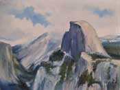 Half Dome Yosemite from Glacier Point oil painting by karen Winters