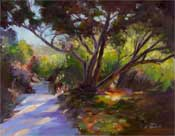 Hall Canyon Oak Trees painting, La Canada