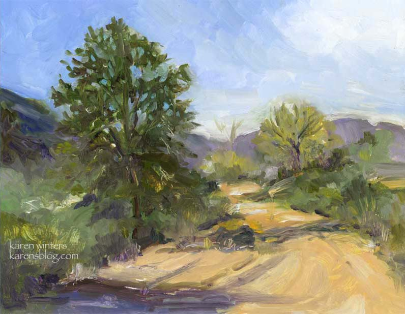 High Desert Breeze oil painting