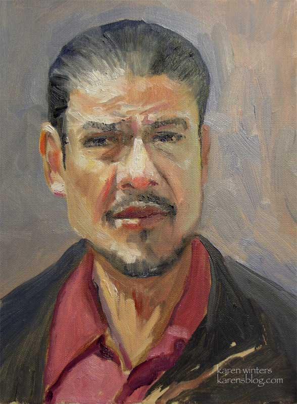 Hispanic Man – Karen Winters Daily Painting |