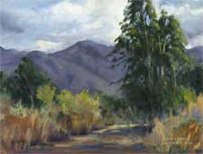 Oak Grove Park - La Canada Memories oil painting