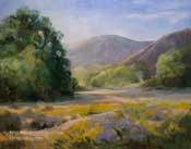 Laguna Canyon Trail oil painting