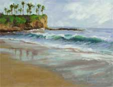 Laguna Reflections original oil painting by karen Winters