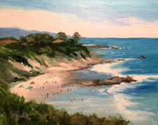 Little Corona Del Mar oil painting
