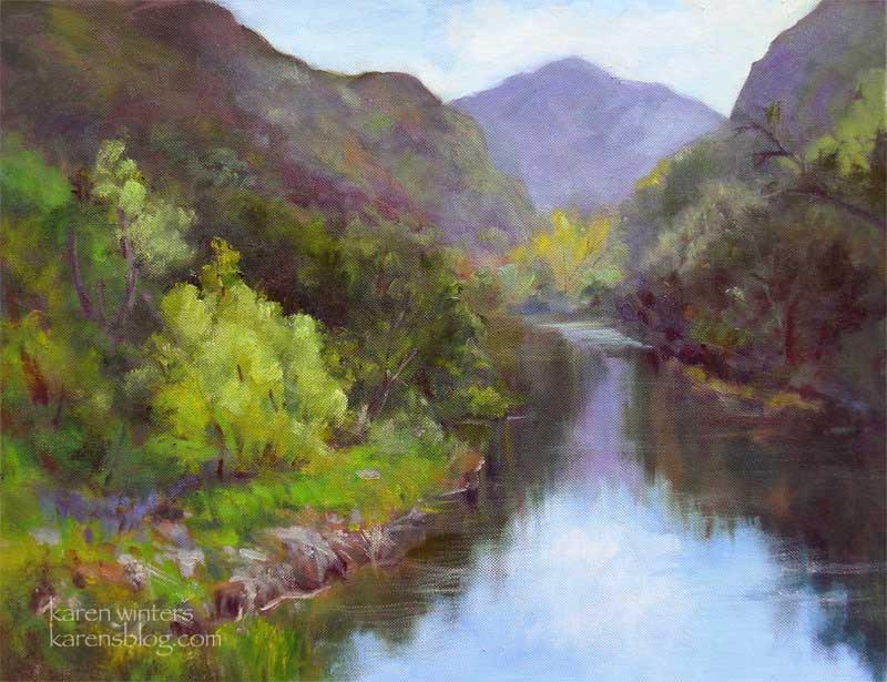 """Malibu Creek Afternoon"" 16 x 20 oil on canvas"