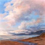 Malibu Memories Pt. Dume oil painting 6 x 6 pacific ocean art