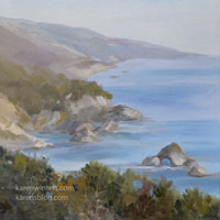 Misty Day Big Sur oil painting
