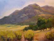 Morning Light at Lightner Peak Walker Basin Rankin Ranch Kern County California oil painting by California impressionist Karen Winters