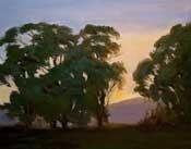 Mornings First Light - Malibu Bluffs oil painting by Karen Winters