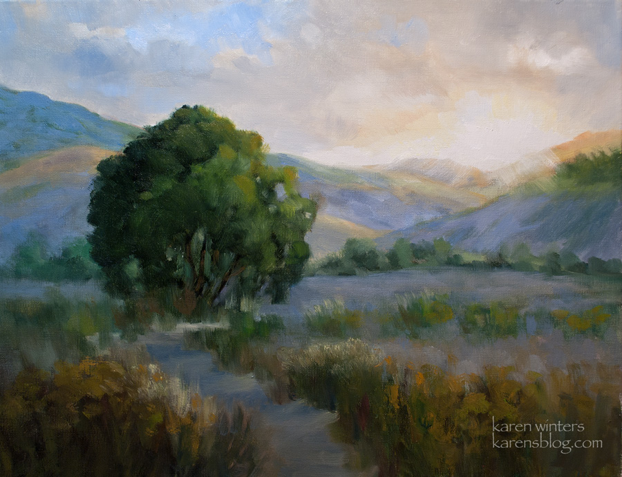 new beginnings california sunrise landscape oil painting