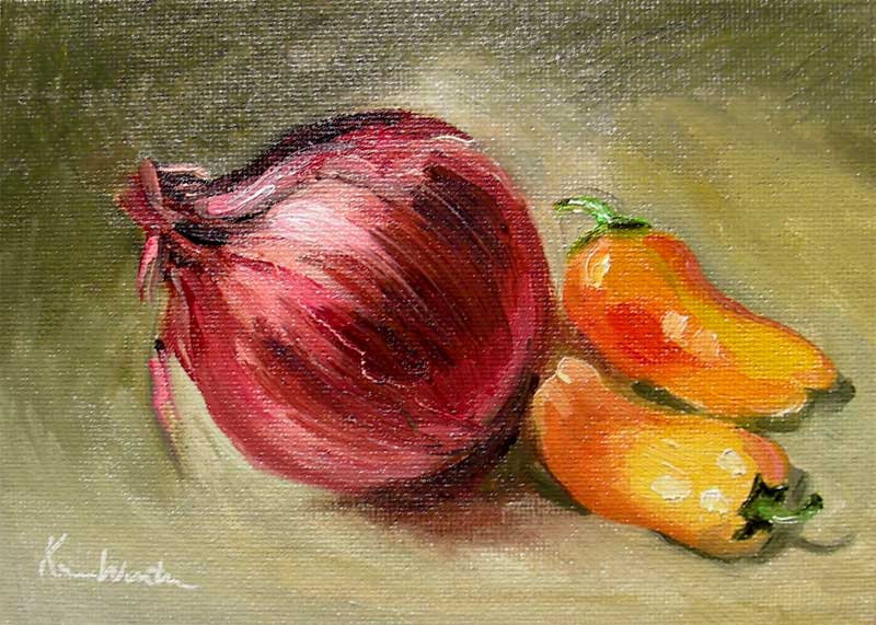 How To Paint An Onion In Acrylic