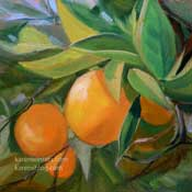 orange quartet oil painting