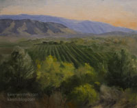 Overlooking Ojai Valley Oil Painting