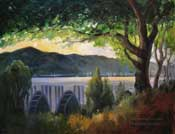 Pasadena's Pride Colorado Street Bridge oil painting