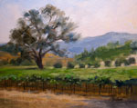 Paso Robles Vineyard Oak California Wine Country Oil Painting