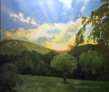 Peachy Canyon Vineyard Sunrise Paso Robles painting