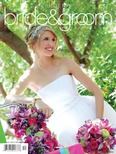 Karen Winters Live Event Painter featured in article in Phoenix Bride and Groom Magazine
