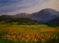Poppies on Parade california landscape oil painting