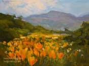 Poppy Promenade poppies miniature oil painting