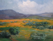 Poppy Time Antelope Valley Oil Painting Art by Karen Winters California impressionist landscape painting
