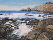 Pt Lobos Tide Pool Oil Painting