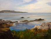 Quiet Day, Carmel Bay Oil Painting by Karen Winters