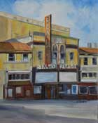 Rialto Theatre South Pasadena oil painting California Art Club paint out